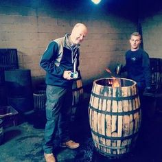 Graham Eunson is in Spain with our cask supplier - the quality of the oak we mature our whisky in is so important for the final flavour so he visits regularly to ensure we get only the best casks. #Spain #char #fire #cask #jerez #sherry #oak #cooperage #whisky #quality