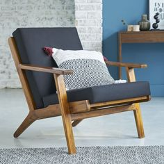 Fauteuil scandinave teck vintage Order your Scandinavian vintage teak armchair on Wood Top Wood Bott Decor, Furniture, Interior, Hotel Interiors, Chair, Home Decor, Teak Armchair, Wooden Armchair, Teak Chairs