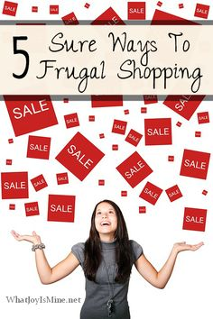 5 Sure Ways To Frugal Shopping