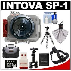 Intova Sport Pro Waterproof HD Sports Video Camera Camcorder with Bike Handlebar & Helmet Mounts + 16GB Card + Case + Flex Tripod + Accessory Kit for BMX, Mountain Biking, Trail Riding & other Extreme Sports by Intova, http://www.amazon.com/dp/B007ZDEGGE/ref=cm_sw_r_pi_dp_TGOosb08XXBV7