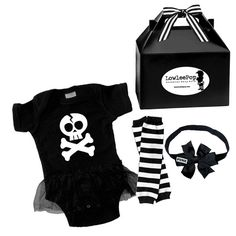 Baby Girls Skull  Infant or Toddler Onesie Tutu by lowleepop