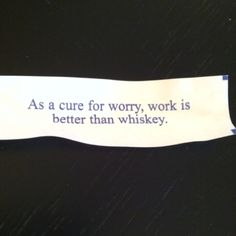 I opened this during the chinese lunch after my worst night ever - such irony