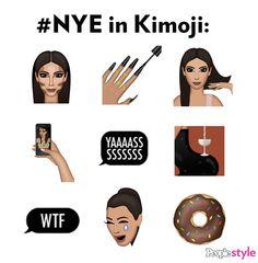 New Year's Eve in Kimoji, Kim Kardashian's new emoji app