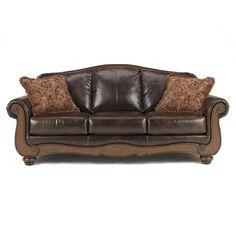 Signature Design By Ashley Barcelona Antique Traditional Camel Back Sofa Home Decor