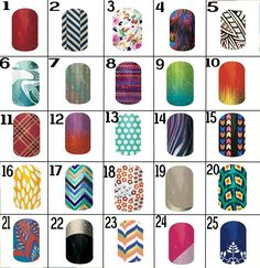 Jamberry BINGO with selections from the Fall Winter catalog! Simply pick 5 favorites from the board, then randomly draw/post a picture of each style until somebody says BINGO! Great for online parties!  Like the styles pictured? Order them now at- https://natalieherndon.jamberrynails.net/shop