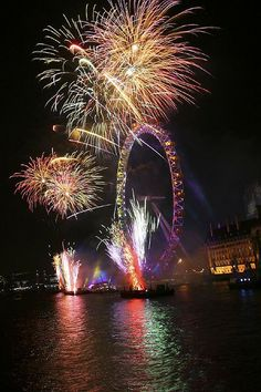 Fireworks by The London Eye