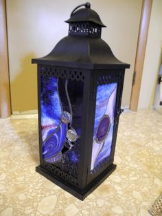Stained Glass Lantern by TotoloStudio on Etsy, $125.00 made in rhode island