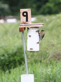 Birdhouse and Nesting Chart Platform Bird Feeder, Lawn And Garden, Home And Garden, Bird Houses, Bird Feeders, Repurposed, Wildlife, Backyard, Birds