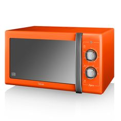 Swan Retro Manual Microwave - Orange Offering top-end technology and retro styling for the style-conscious homeowner, the Retro Digital Microwave from iconic housewares brand Swan is an impressive addition to any kitchen. Boasting a 25 litre capa Microwaves For Sale, Retail Websites, Kitchen Equipment, Manual, Kitchen Appliances, Technology, Retro, Cookers, Ovens