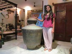 The  height of the huge water pot Kindaram is 3feet 10 inches