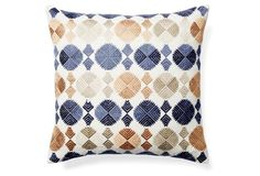Pacifica 20x20 Embroidered Pillow, Multi