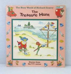 The Busy World of Richard Scarry Treasure Hunt stories from TV used picture book 3 Picture, Picture Books, Richard Scarry, Tv, World, Business, Ebay, The World, Business Illustration
