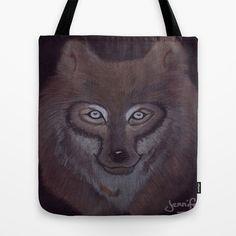 Dark Wolf Tote Bag by Jennifer Tye - $22.00
