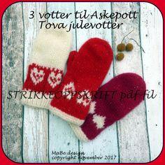 Strikkeoppskrift : julevotter 3 votter til Askepott- pdf-fil - Hello Christmas Stockings, Barn, Knitting, Holiday Decor, Needlepoint Christmas Stockings, Converted Barn, Tricot, Breien, Stricken
