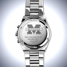 Michigan Wolverines Men's Collector's Watch - back - carosta.com