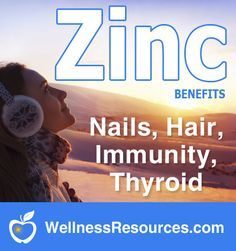 Zinc is an important mineral that is lacking in the food supply. It is needed for immunity, mood, hair, nails, brain health and more.