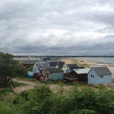 Beach huts at muddiford
