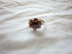 Antique 8k 333 Yellow Gold Bohemian Garnet Ring via Once Upon A Gem. Click on the image to see more!