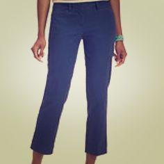loft cotton crop pants Nwt julie fit in navy LOFT Pants Ankle & Cropped