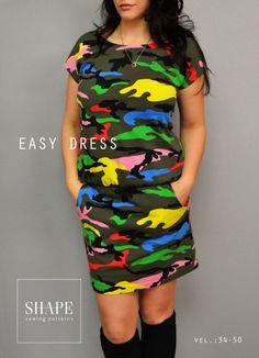 Simple Dresses, Dresses For Work, Easy Dress, Dress Skirt, Bodycon Dress, Dress Shapes, Baby Sewing, Shape Patterns, Art For Kids