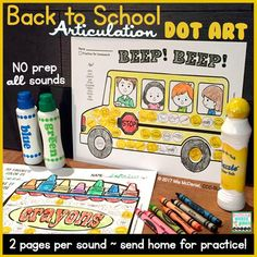 Fun for your Back to School themed articulation therapy, but it really can be used year 'round! Your students will get TONS of articulation drill practice, and it even doubles as speech homework!