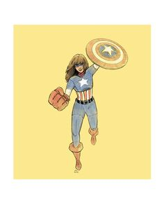 """not-worms: """" daily doodle captain america: kamala khan """" Marvel Fan Art, Marvel Dc Comics, Ms Marvel Kamala Khan, Captain Marvel, Captain America, Silver Surfer, Scarlet Witch, Ghost Rider, Punisher"""