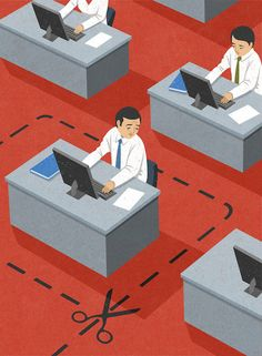 Retro Style Thought Provoking Illustrations by John Holcroft - 12