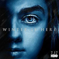 #WinterIsHere- Arya stark promo poster