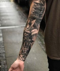 90 Large Tattoos For Men - Giant Ink Design Ideas - Large Tattoo . - 90 great tattoos for men – giant ink design ideas – great tattoo designs for men – - Samurai Tattoo Sleeve, Samurai Warrior Tattoo, Warrior Tattoos, Arm Sleeve Tattoos, Forearm Tattoo Men, Tattoo Sleeve Designs, Tattoo Designs Men, Asian Tattoo Sleeve, Demon Tattoo