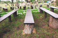ceremony seating - photo by Mike Olbinski http://ruffledblog.com/backyard-texas-wedding