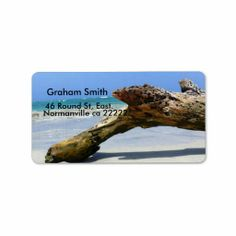 Beach Wood Relic Address Label Simply change my text to your personal details