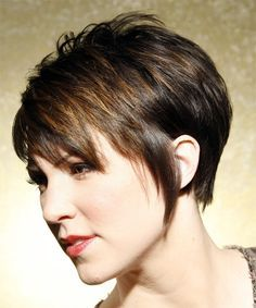 Sassy Hair Cuts for Fine Hair   Casual Short Straight Hairstyle - - 7456   TheHairStyler.com