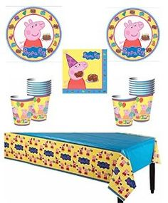 Amazon.com: Peppa Pig Deluxe Party Supply Pack for 16 Guests: Toys & Games