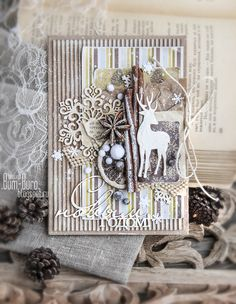 Christmas card. Scrapbooking. Бум-Бюро: Первый этап Новогоднего СП