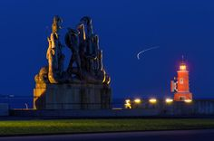 Statue, Lighthouse and airplane taking off by Kaare Ward Jensen on 500px