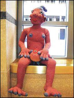 Ming-Yi Sung crochet sculpture