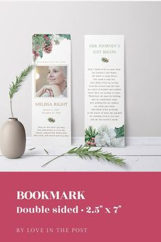 Celebrate a lovely funeral this Christmas with this beautiful funeral bundle which has everything you need to honor your loved one.    #funeral, #funeralprogram, #funeralprogramtemplate,  #obvituarytemplate, #celebrationoflife, #memorialprogram #christmasfuneral, #xmascelebrationoflife Funeral Reception, Seed Packaging, Prayer Cards, In Loving Memory, Thank You Cards, Floral Arrangements, Greenery, Celebration, Place Card Holders