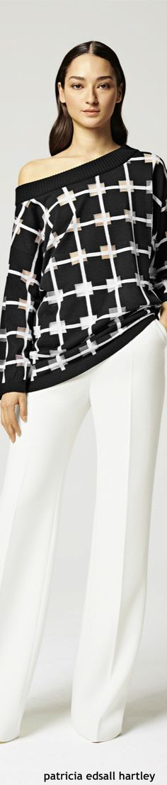 Escada Resort 2016 black sweater  women fashion outfit clothing style apparel @roressclothes closet ideas