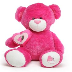 Giant Teddy  - Ms. ChaCha Big Love Huge Hot Pink Teddy Bear 56 in - Giant Valentine's Day Teddy Bear, $199.99 (http://www.giantteddy.com/ms-chacha-big-love-huge-hot-pink-teddy-bear-56-in-giant-valentines-day-teddy-bear/)
