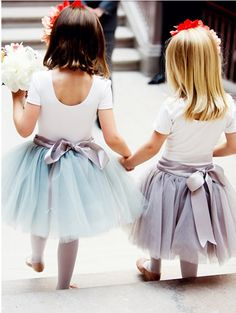 Flower girl tutu with ribbon? (minus the colors/tights/topstyle)