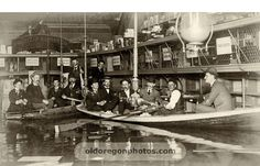1894 flood--inside the Goodyear Rubber Co, 1st St