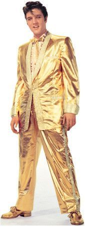 Cutout:Elvis Presley-Gold Lame Suit Lifesize Standup