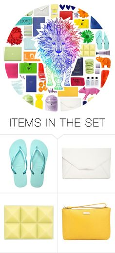 """""""The Rainbow Lion"""" by stelbell ❤ liked on Polyvore featuring art"""