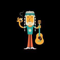 Willie Weed by Benjamin Garner #character #illustration #flat