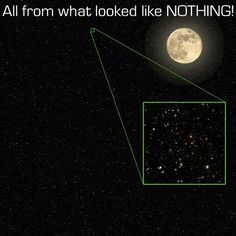 And just keep this in mind — that's a picture of a very small, small part of the universe. It's just an insignificant fraction of the night sky.O universo, cara. O UNIVERSO. Cosmos, Fractions, Galaxy Pictures, Hubble Pictures, Advantages Of Solar Energy, Space Facts, Carl Sagan, Our Solar System, Space Exploration