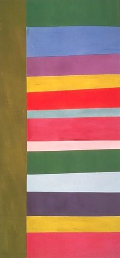 Jack Bush (1908-1977), Tall Spread, 1966. Jack Bush was a Canadian abstract painter. His paintings are associated with the Color Field movement and Post-painterly Abstraction.