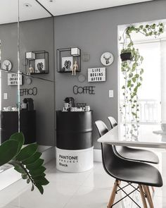 Update from 🤩 . I had not yet posted the new Nespresso.br coffee maker that was pu Coffee Bar Home, Home Coffee Stations, Boutique Interior, Interior Design Living Room, Interior Decorating, Decorating Ideas, Decor Ideas, Living Pequeños, Simple Living Room Decor
