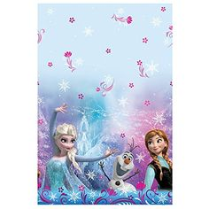 Bring the magic of Arendelle to your party table with this Disney Frozen Plastic Table Cover. This convenient, disposable plastic table cover features Disney pr Frozen Birthday Invitations, Frozen Themed Birthday Party, Elsa Birthday, Disney Frozen Birthday, Disney Princess Frozen, Birthday Party Themes, Disney Princesses, Happy Birthday, Birthday Tarpaulin Design