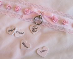 Babygirl, Babydoll, Good Girl. I need one that says Princess and Brat as well lol