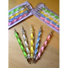 Amazon.com: Nail Art Dotting Tools / Dotting Pens- Set of 5 Double Ended Nail Art Dotting and Marbling Tools for Manicure and Pedicure  with 10 Different Dotting Sizes (ball styluses - polymer clay?)
